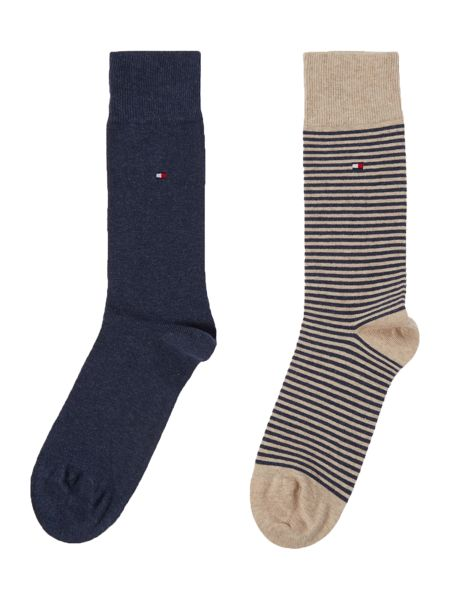 Tommy Hilfiger 2 pack of small stripe and plain socks