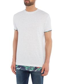 Eleven Paris Dokati regular fit hem print crew neck tee