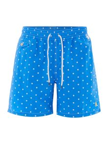 Polka dot print swim short