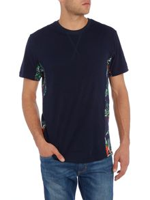 Eleven Paris Bicot regular fit side panel print crew neck tee