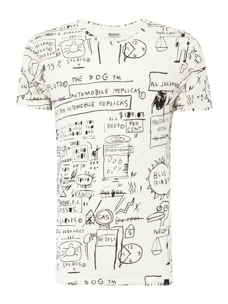 Eleven Paris Basquiat regular fit all over print crew neck tee