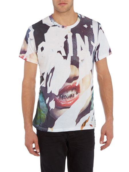Eleven Paris Degangbis regular fit gangsta all over print tee