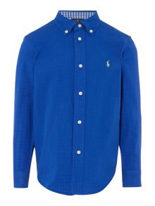 Polo Ralph Lauren Boys Long Sleeve Shirt with gingham trims