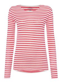 Long sleeve stripe joan top