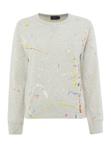 Paint splatter sweater