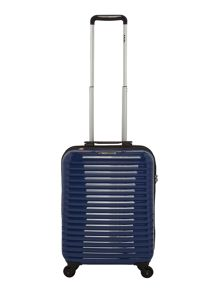 Delsey Axial elite blue 4 wheel hard cabin suitcase