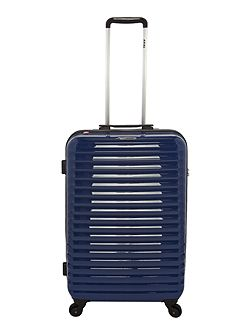 Axial elite blue 4 wheel hard medium suitcase