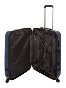 Delsey Axial elite blue 4 wheel hard medium suitcase