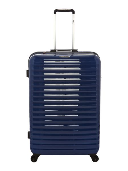 Delsey Axial elite blue 4 wheel hard large suitcase