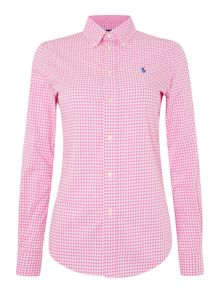 Harper gingham long sleeve shirt