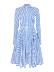 Polo Ralph Lauren Dori long sleeve stripe shirt dress