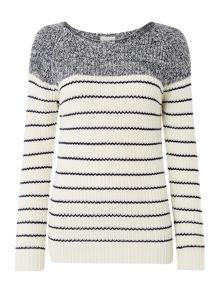 Vero Moda Long Sleeved Round Neck Striped Jumper