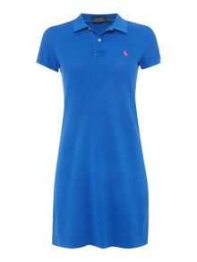 Short sleeve polo dress