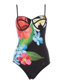 Ted Baker Nadayis placement print swimsuit