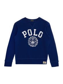 Polo Ralph Lauren Boys Crew Neck Polo Graphic Sweater