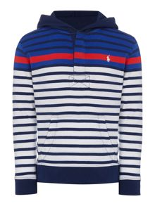 Boys Hooded Stripe Sweater
