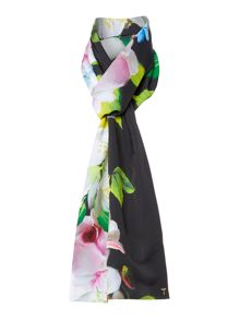 Ted Baker Vinia placement print skinny tassel scarf
