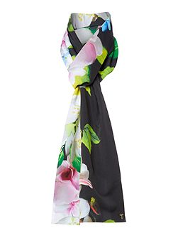 Vinia placement print skinny scarf