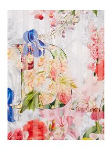 Ted Baker Raury floral print border wide scarf