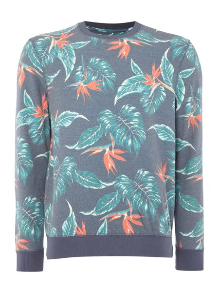 Eleven Paris Regular fit floral print crew neck sweatshirt