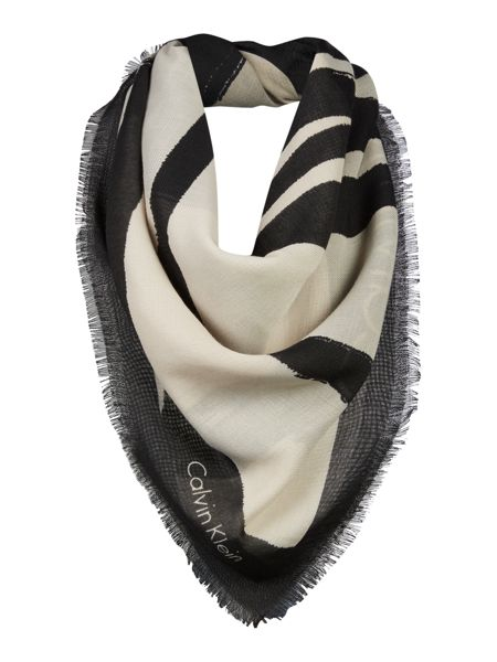 Calvin Klein Amplified scribble square scarf