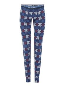 Gant printed long johns