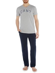 Gant Jersey pant and V neck t-shirt gift set