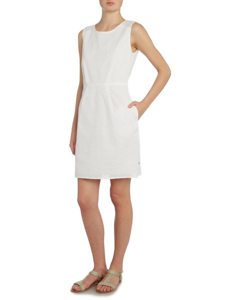 Hugo Boss Sleeveless perforated dress