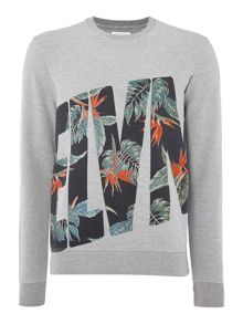 Eleven Paris Regular fit floral logo print sweatshirt
