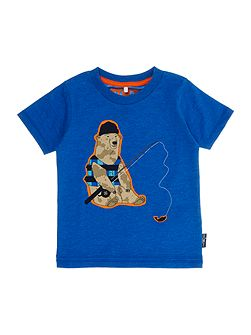 Boys Fishing bear graphic tee