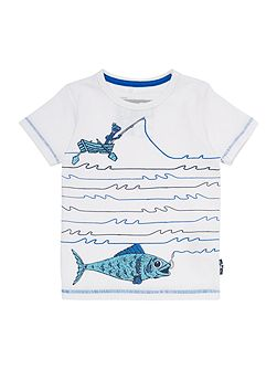 Boys Fish on a line graphic tee