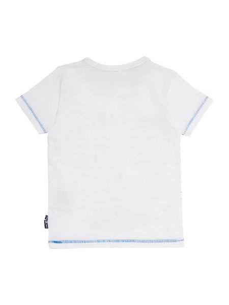 name it Boys Fish on a line graphic tee