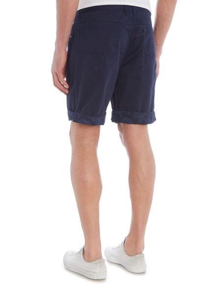 Eleven Paris Regular fit floral chino shorts with turn up hem