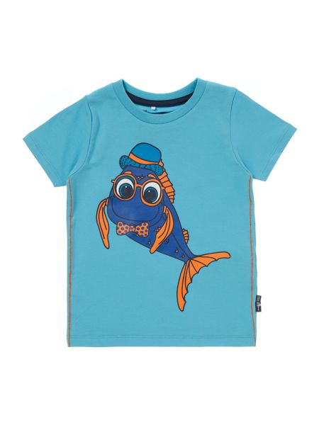 name it Boys Fish in glasses graphic tee