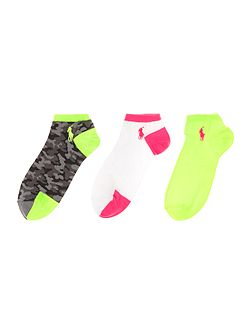 Flat knit camo 3-pack