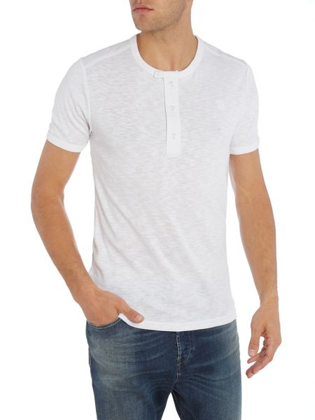G-Star Ramic regular fit grandad henley t shirt