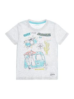 Boys Ready for adventure camper graphic tee
