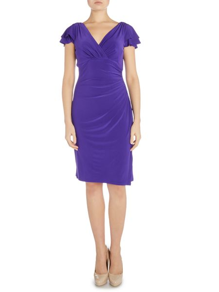 Lauren Ralph Lauren Brisa frill sleeve v neck dress