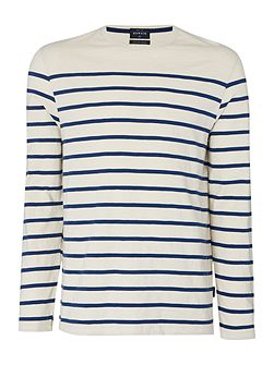 Cherbourg jersey striped tee