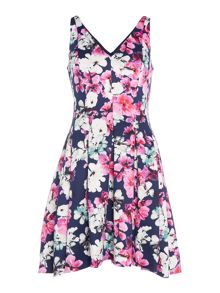 Lauren Ralph Lauren Marietta fit & flare floral dress