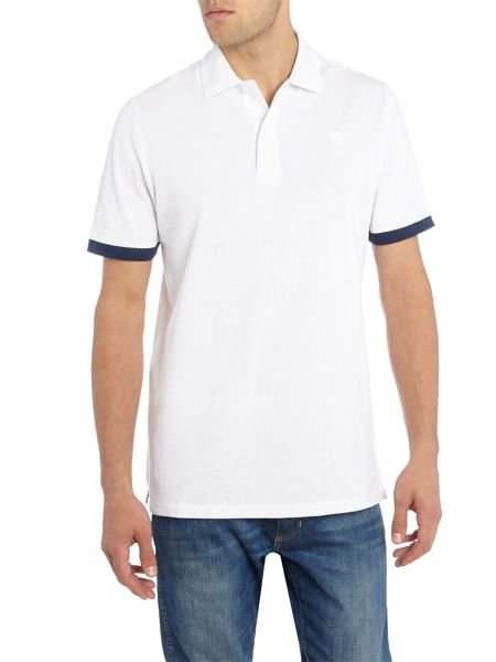 G-Star Pitro regular fit contrast sleeve polo top