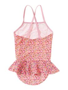 name it Girls Floral all over print swimsuit