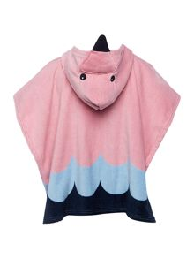 name it Girls Flamingo towel poncho