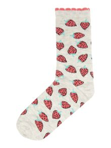 Therapy All over Strawberry print sock