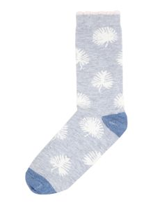 Therapy All over Leaf Print Sock
