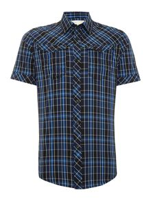 G-Star Arc 3D regular fit short sleeve check shirt