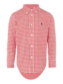 Boy`s Mini Gingham Shirt