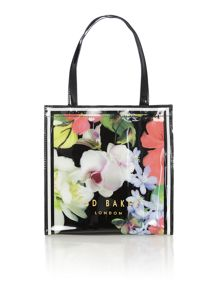 Ted Baker Gecon black floral small tote bag