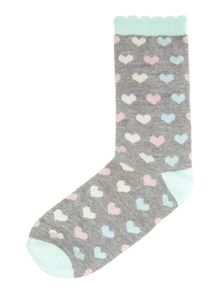 Therapy Ditsy lurex heart sock