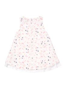 name it Girls Butterfly all over print sleeveless dress